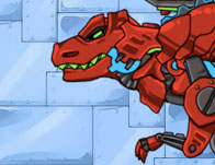 Dino Robot Tyranno Red